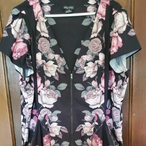 City Chic L/20 short sleeve floral dress